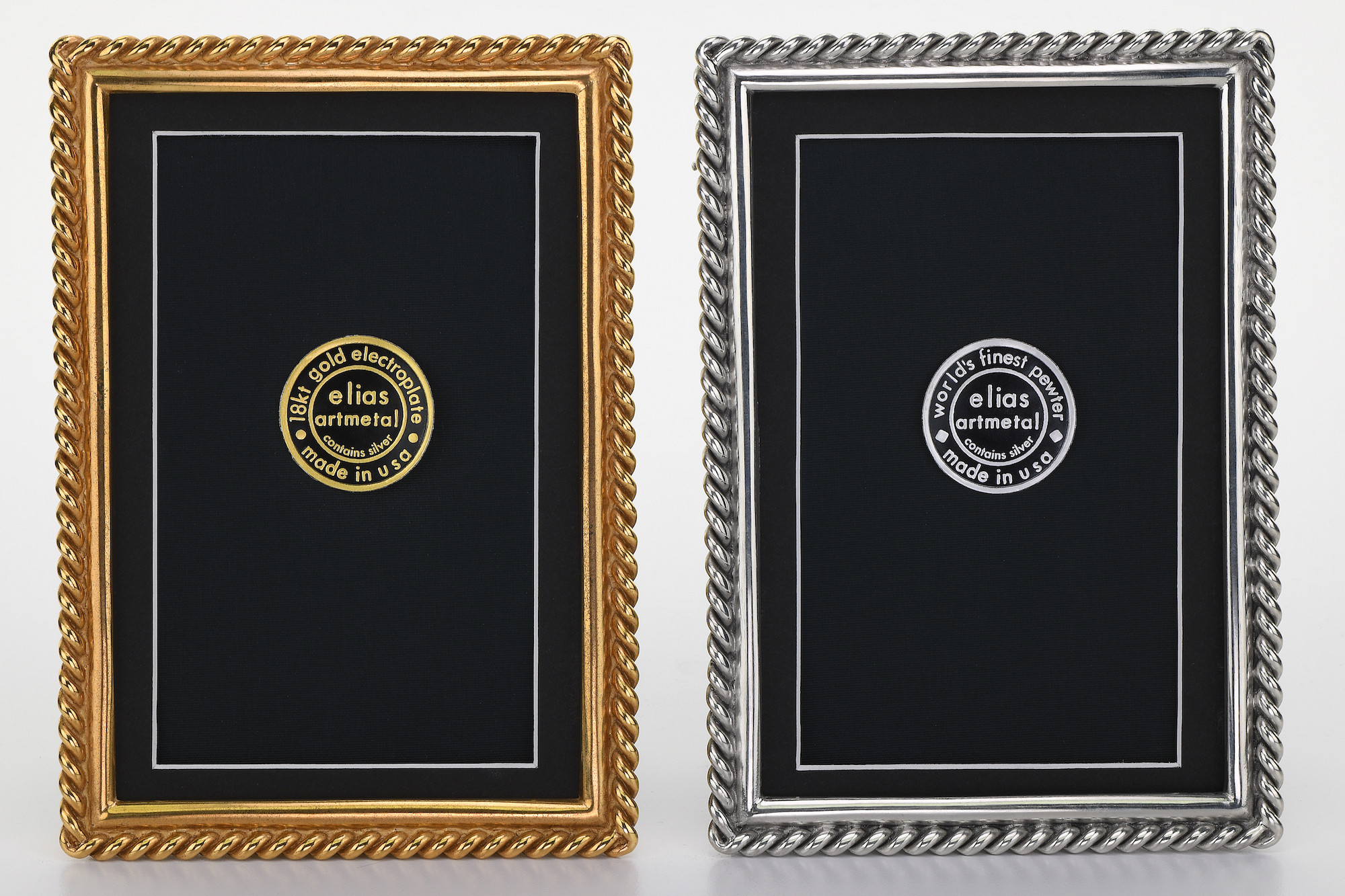Chain Gold And Pewter Metal Picture Frames Elias Artmetal