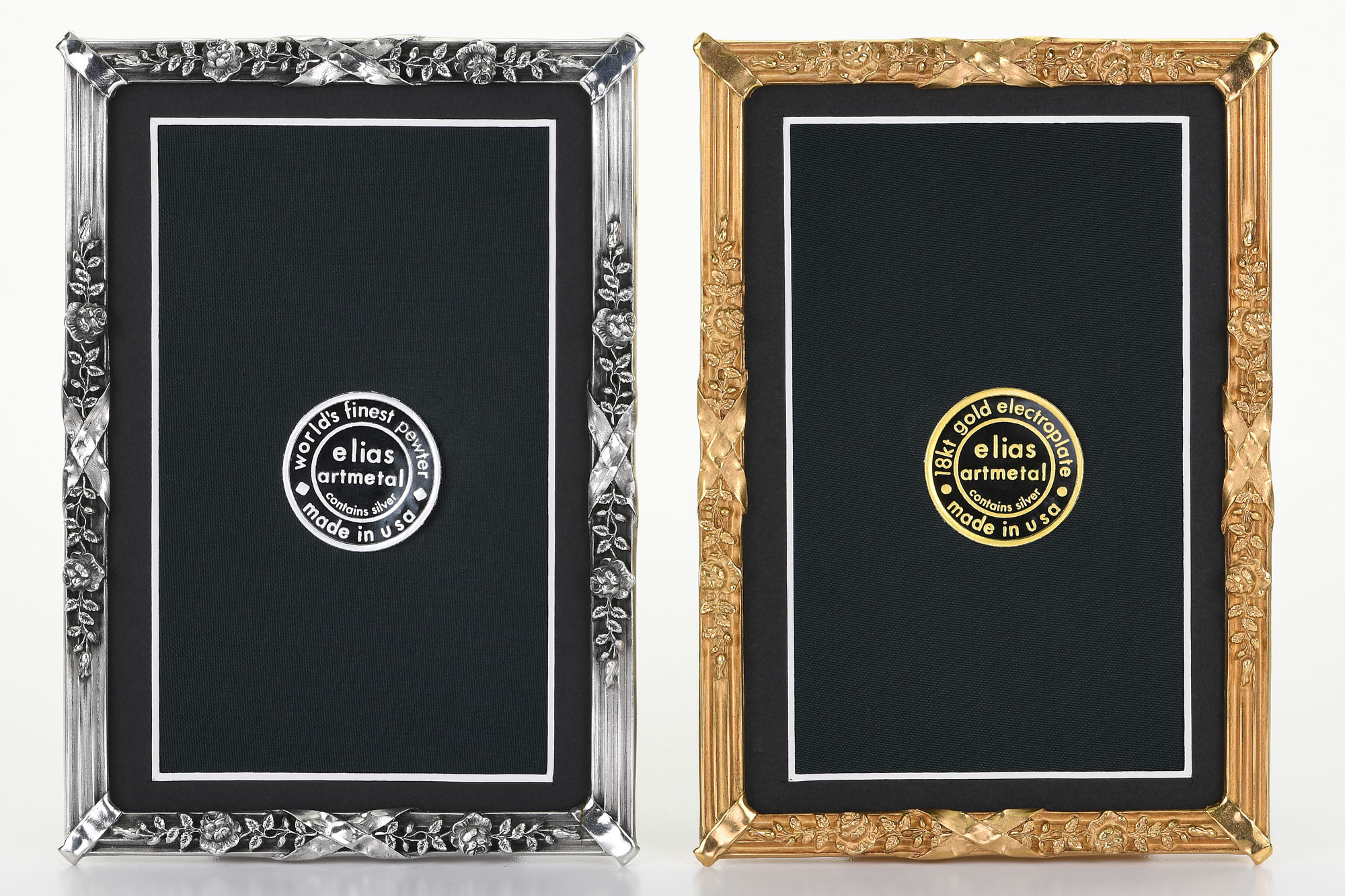 cf7e8f9c790 Petite Louis Gold and Pewter Metal Picture Frames