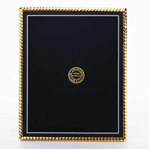 """8x10 """"SPIRAL"""" - 18kt. Gold EP Frame"""