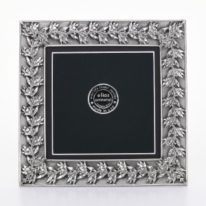 """5x5 """"AUTUMN LEAVES"""" Extra Fine Pewter Frame"""